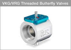 Siemens VKG Threaded Butterfly Valves